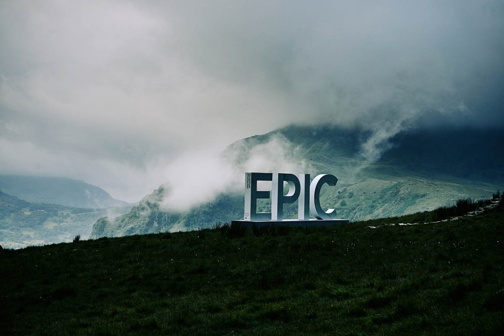 The giant EPIC installation at Pen-y-Gwryd