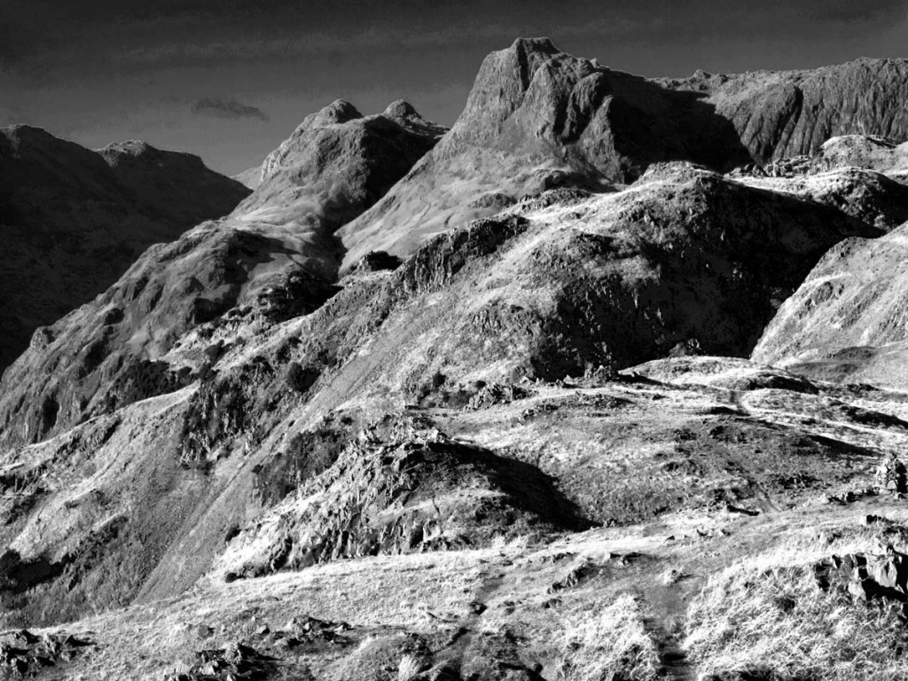 The image of the Langdale Pikes won second prize. Photo: Derek Leak
