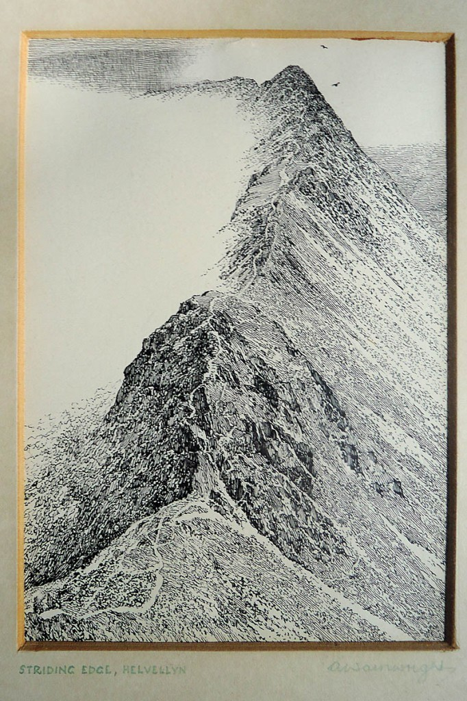 The Wainwright sketch of Helvellyn sold for more than £10,000. Image: 1818 Auctioneers