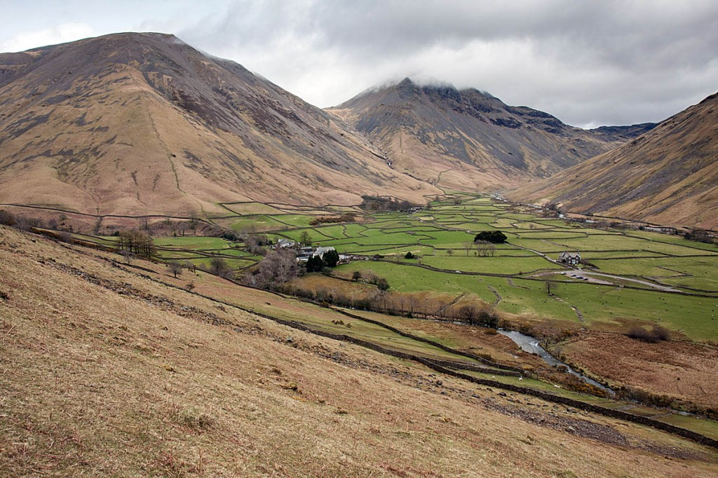 Wasdale Head, starting point for walkers heading for the central fells. Photo: Bob Smith/grough