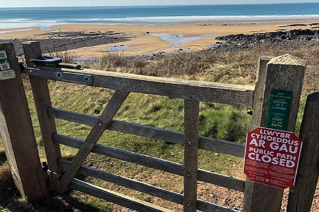 Certain paths in the Pembrokeshire Coast national park remain closed