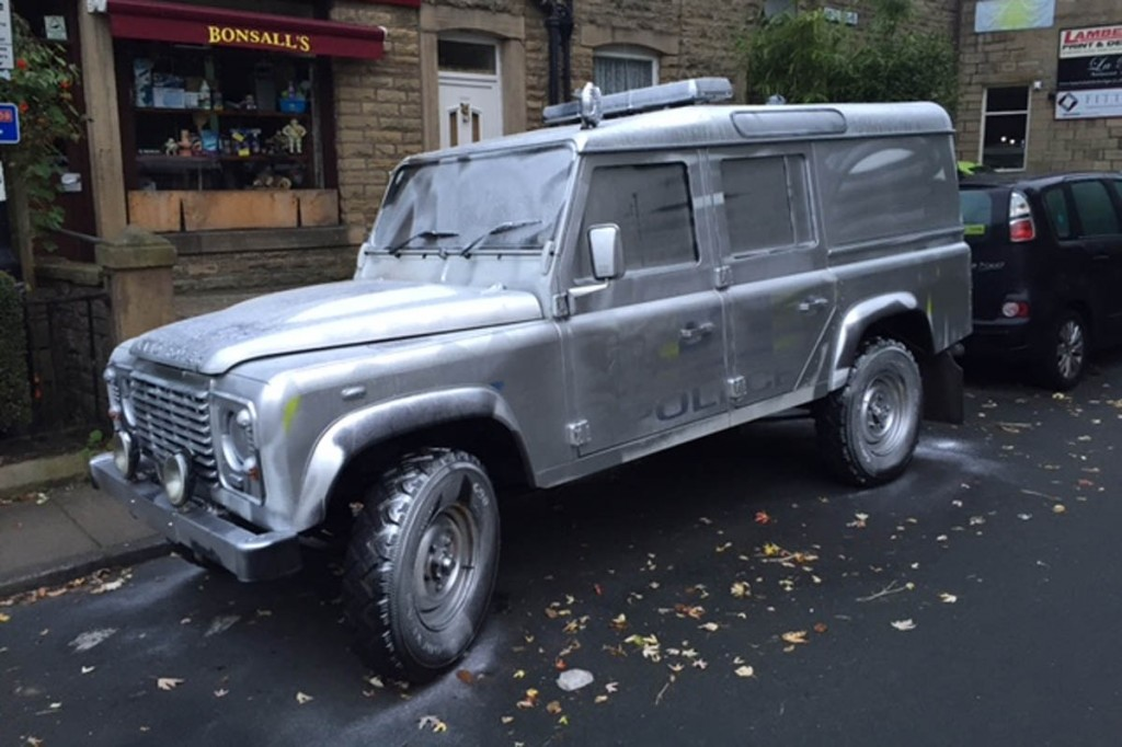 The Land Rover was painted silver while parked in Hebden Bridge. Photo: West Yorkshire Police
