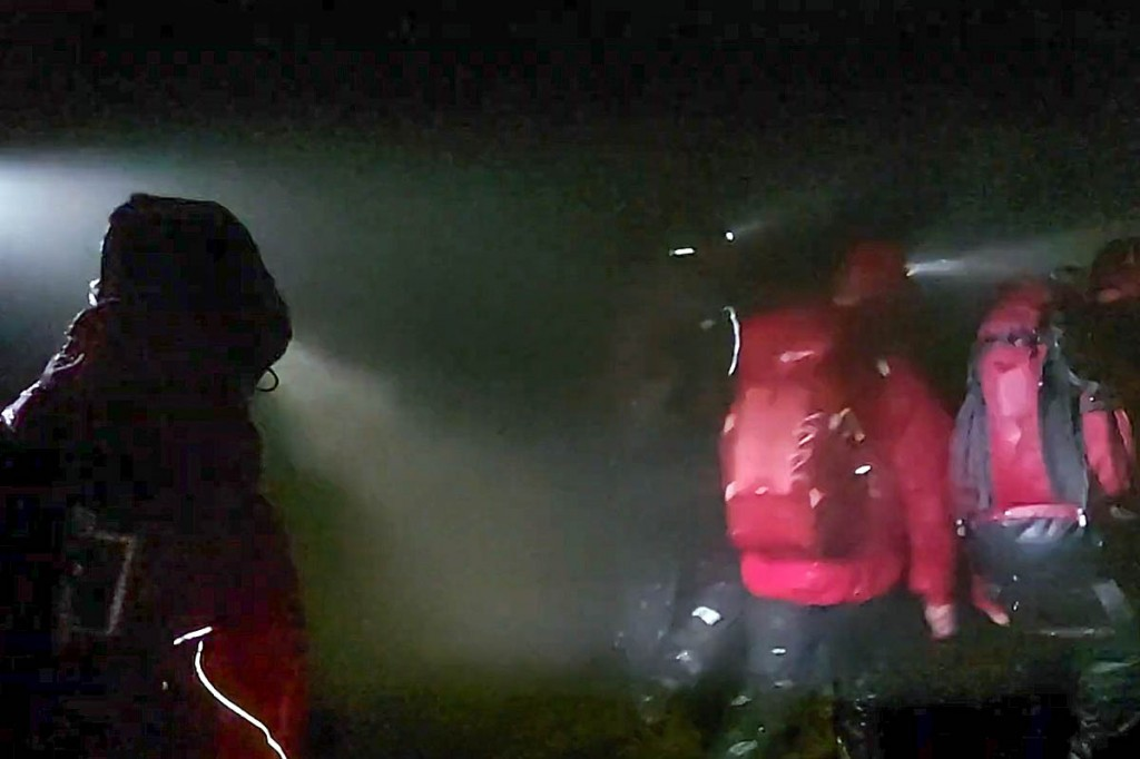 Rescuers at the scene. Image: Western Beacons MSRT