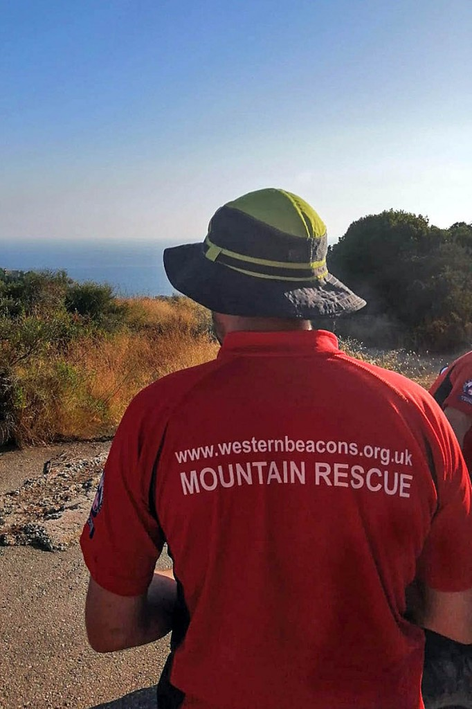Rescue team members have ended their search for the missing walker. Photo: Western Beacons MSRT