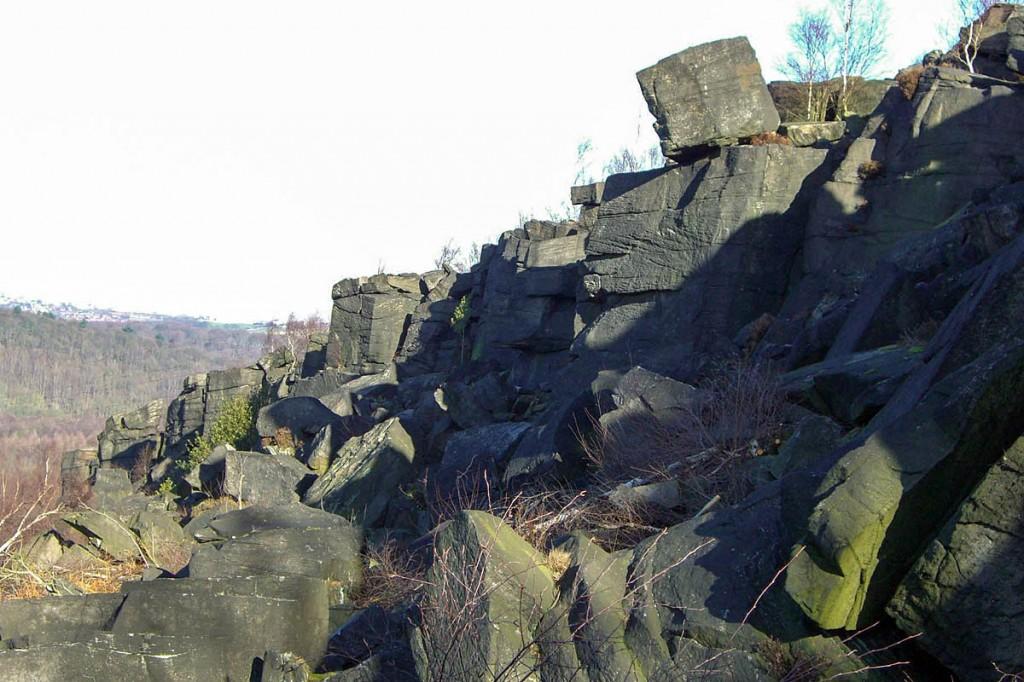 The climber fell at Wharncliffe Crags near Stocksbridge. Photo: Mick Knapton CC-BY-SA-3.0