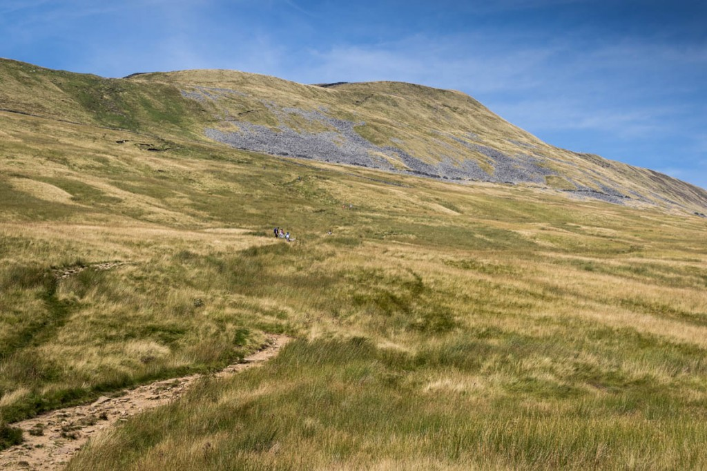 The woman fell high on the path leading from Whernside's summit. Photo: Bob Smith/grough