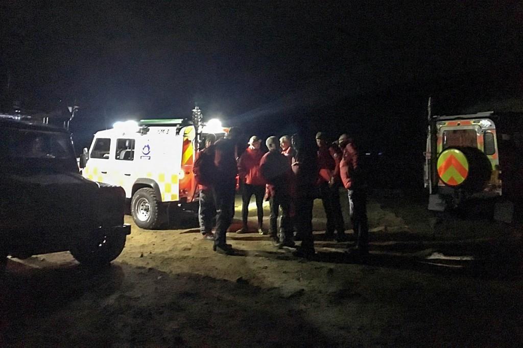 Rescuers at the scene. Photo: Woodhead MRT