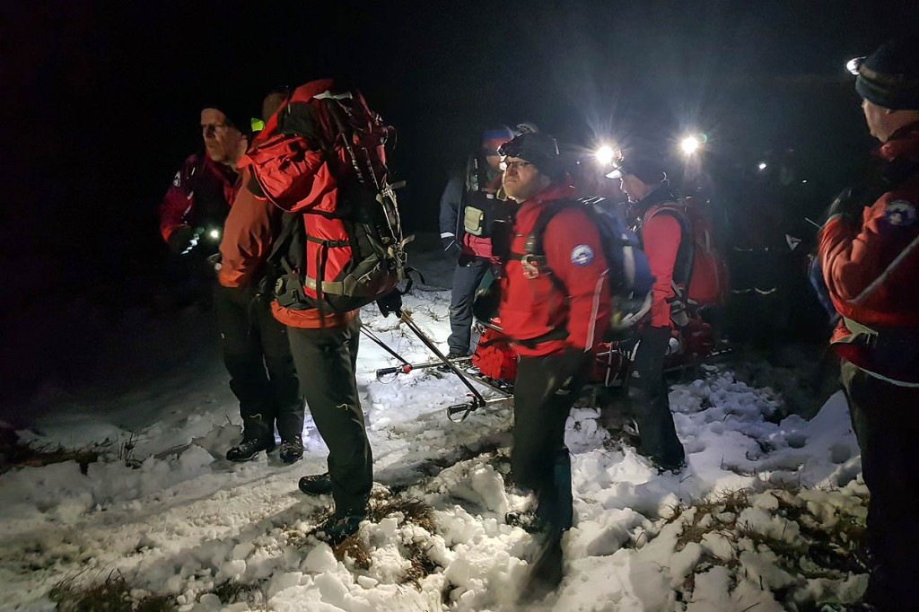 Teams faced a long stretcher carry across difficult terrain. Photo: Woodhead MRT