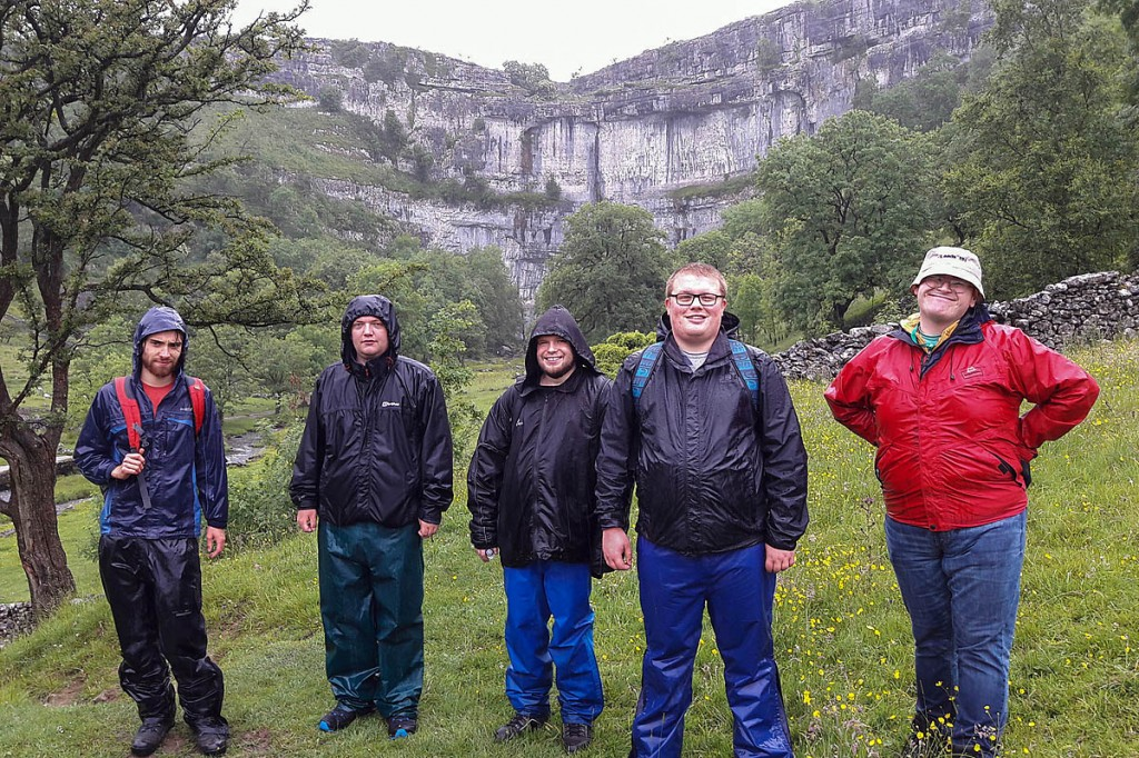 Donated outdoor gear from Rohan is put to good use by a Specialist Autism Services group visiting Malham