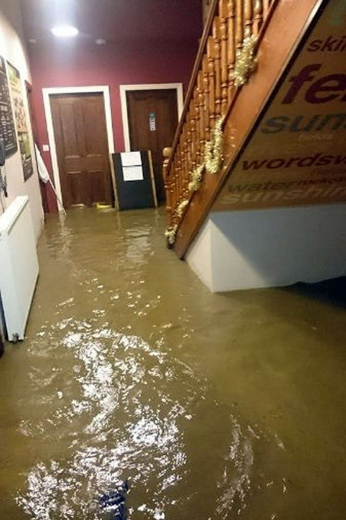 The hostel was flooded in December 2015