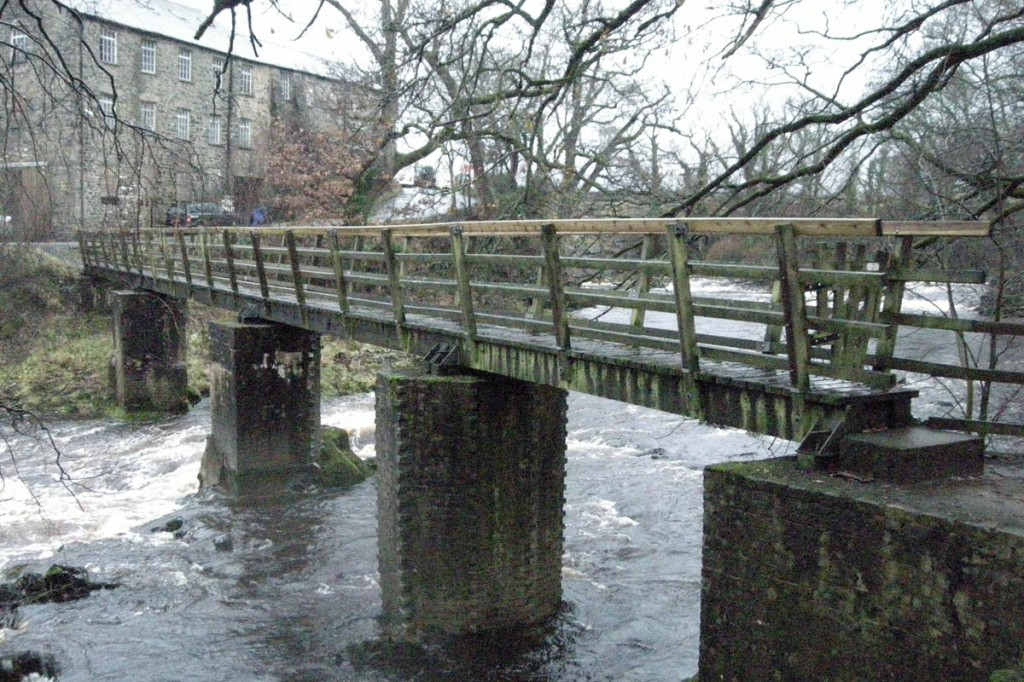 The Birks Mill bridge before it was demolished by flood water. Photo: Yorkshire Dales NPA