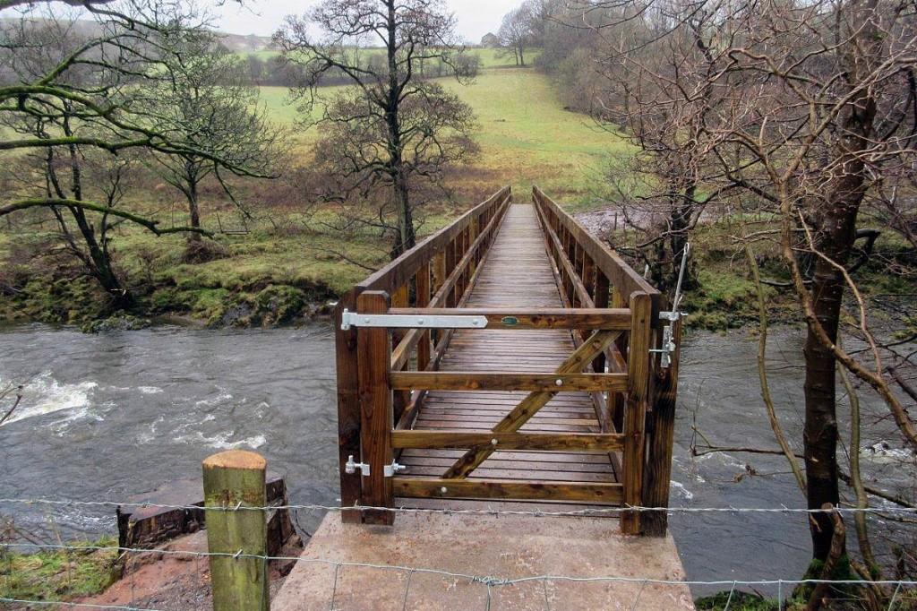 The rebuilt bridge over the River Lune