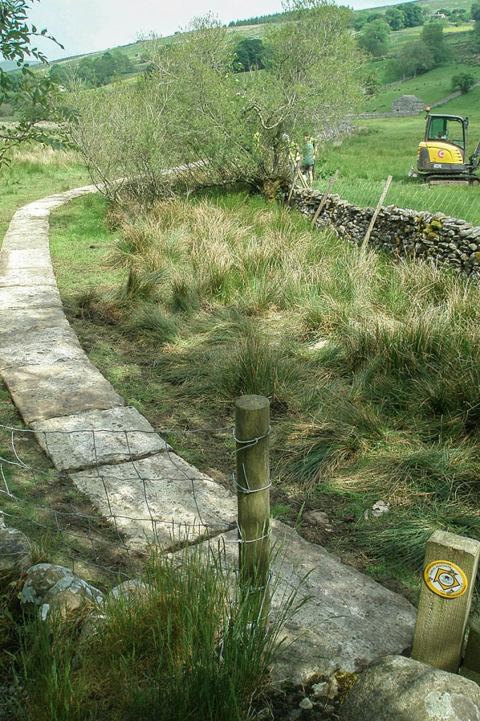 The path near Semer Water, one of the sites where the donated flags were used. Photo: Yorkshire Dales NPA