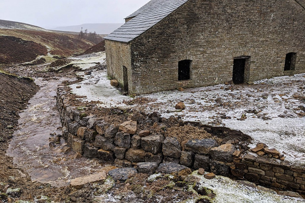 Work to protect the mill was completed in the nick of time. Photo: Yorkshire Dales NPA