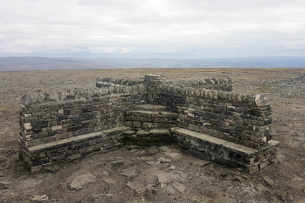 The restored cross shelter on Ingleborough's summit plateau. Photo: YDNPA