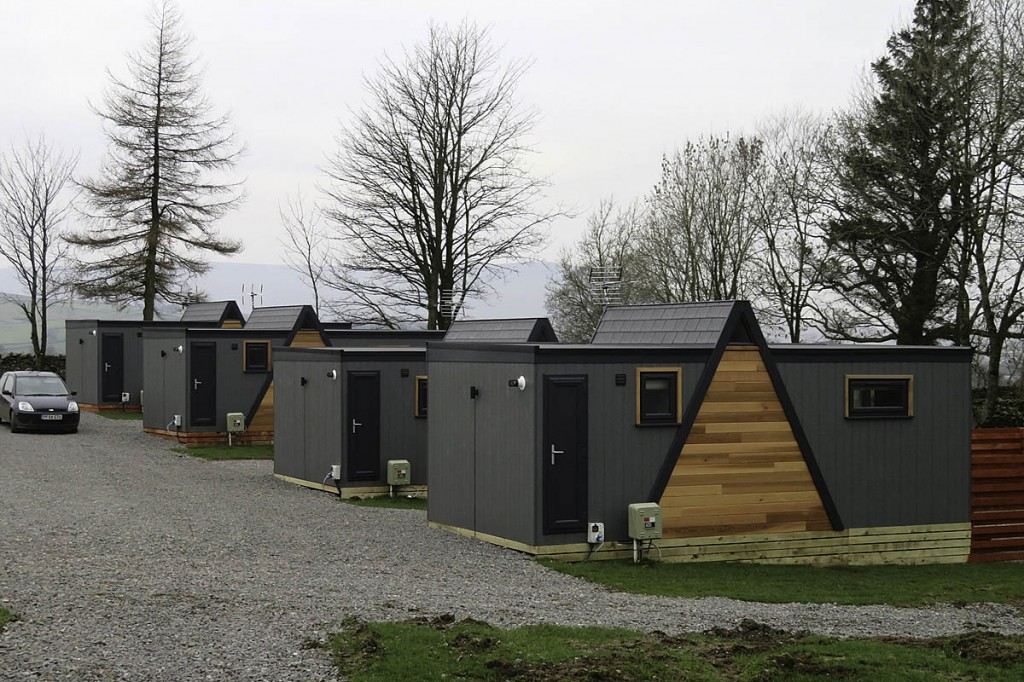 The new pods at Bainbridge Ings. Photo: Yorkshire Dales NPA
