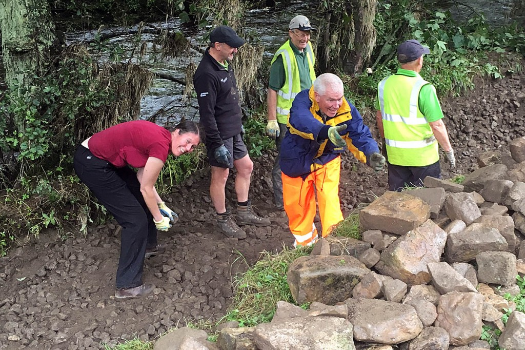 National park bosses said the volunteers' work rate was amazing
