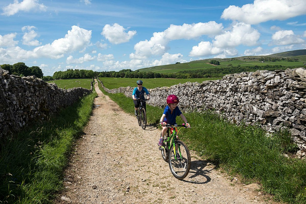 Mountain bikers in the Clapham area of the Dales. Photo: Paul Harris