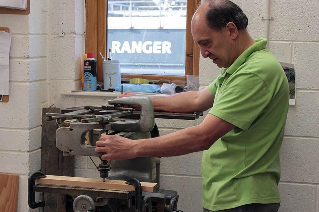 Richard Pennington uses the pantograph. Photo: Andrew Fagg/YDNPA