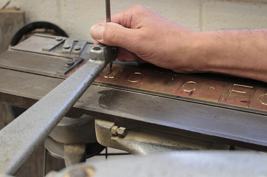 Moving the stylus along the grooves in the brass copy. Photo: Andrew Fagg/YDNPA