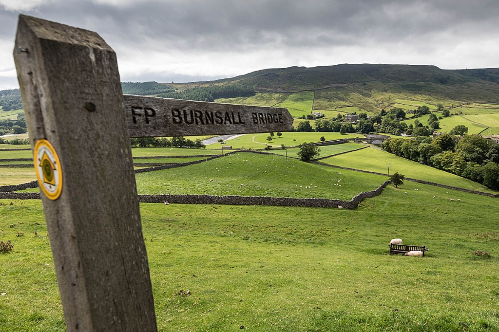 One of more than 3,000 finger posts that have been made for the Yorkshire Dales national park. Photo: Bob Smith/grough