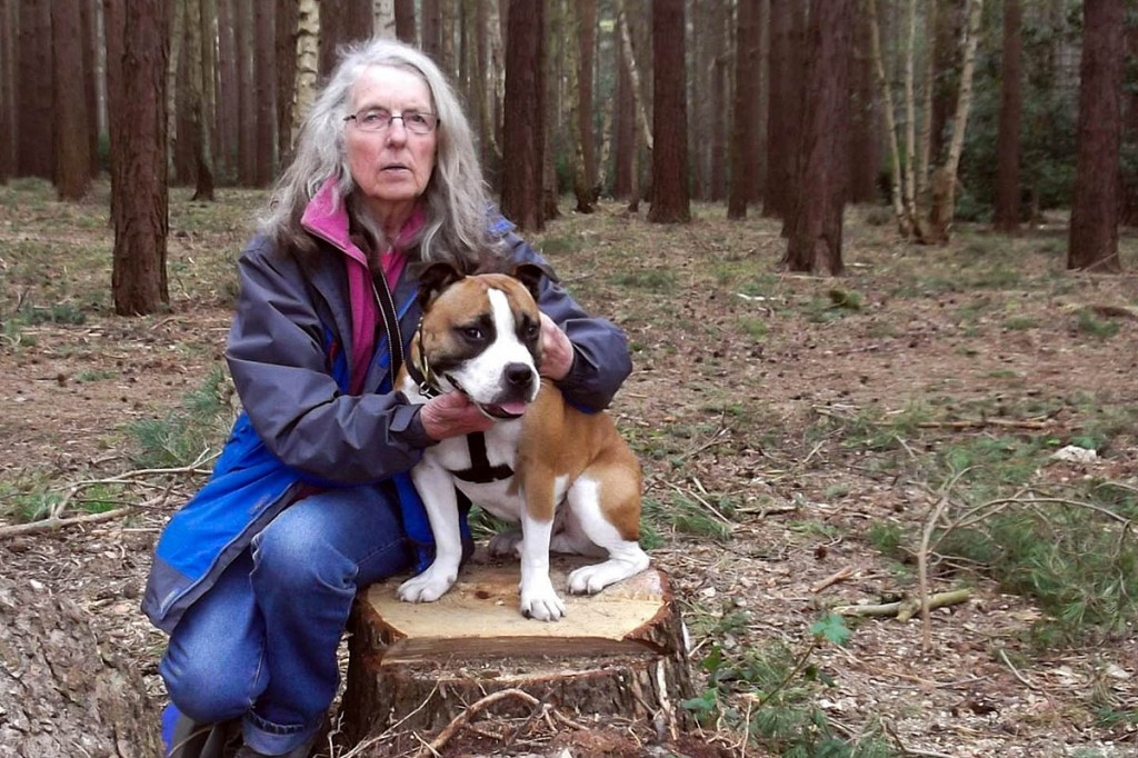 Yvonne Mullen and her dog