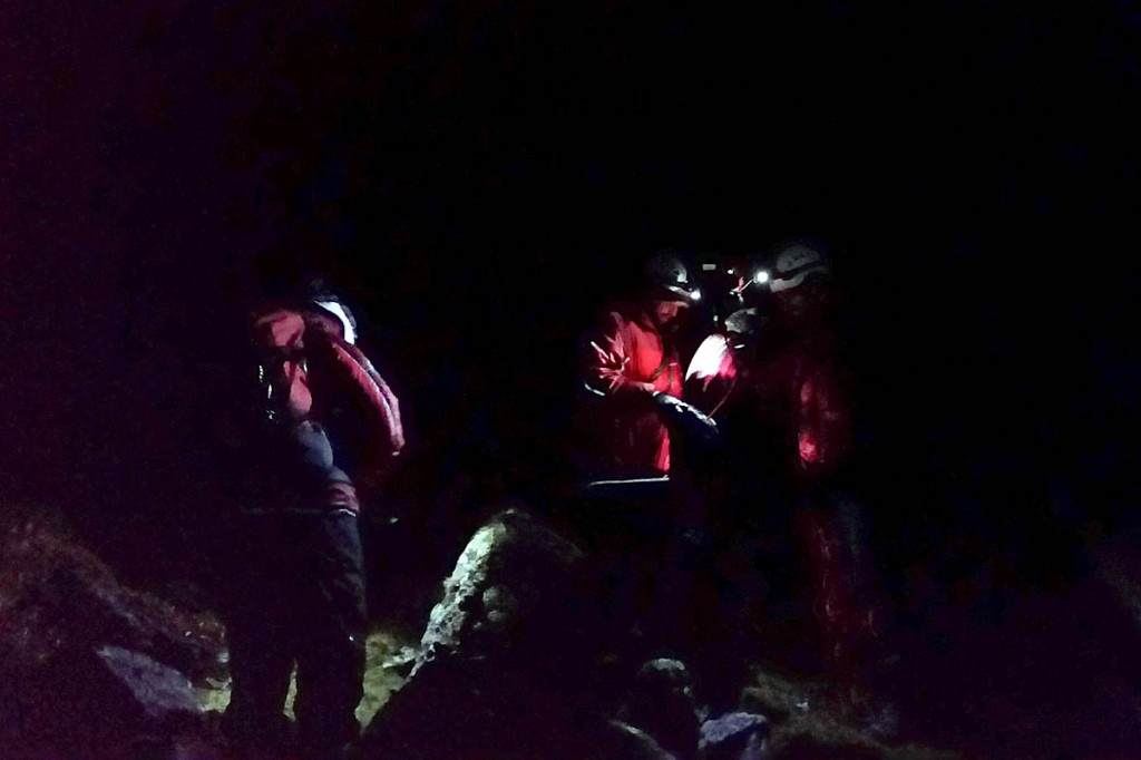 Rescuers mounted a search in the dark for the lost pair. Photo: Aberdyfi SRT