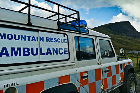 The video promotes the work of volunteer mountain rescuers in England and Wales