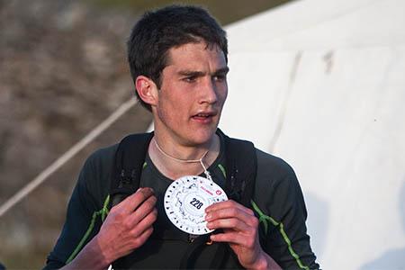 Adam Perry, winner of the Fellsman