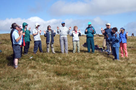 Aetherius Society members during a previous visit to Pen y Fan