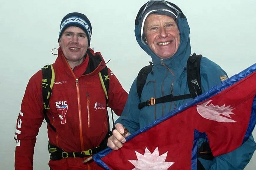 Alan Hinkes, right, is joined by Alex Staniforth