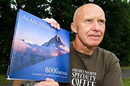 Alan Hinkes with his new book, eight years in the making
