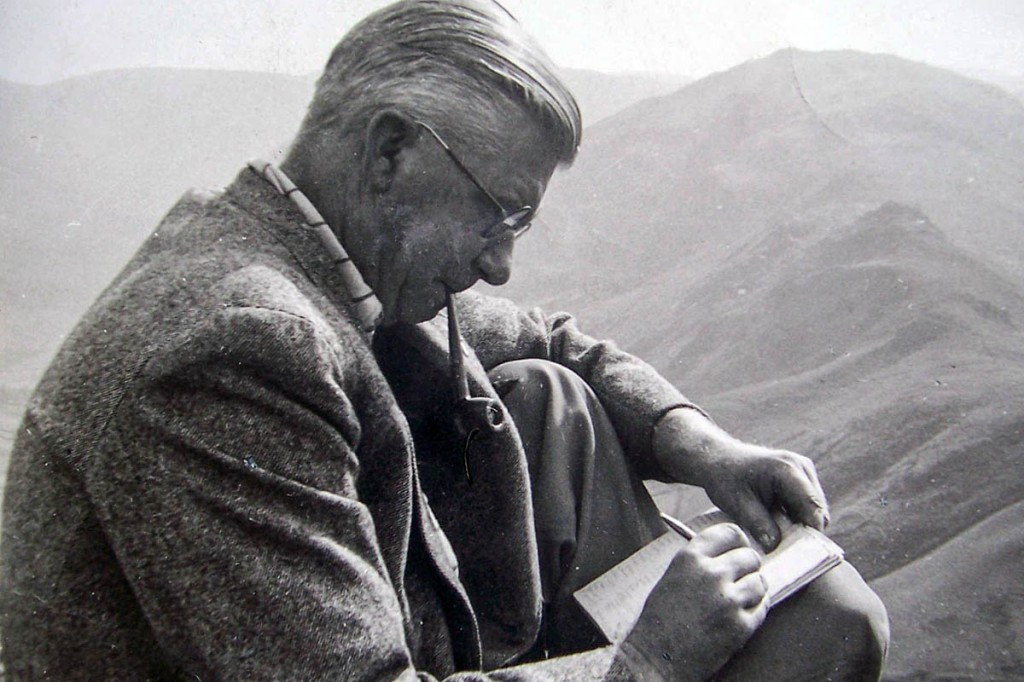 Alfred Wainwright at work. Photo: Cumbria Archive Centre, Kendal
