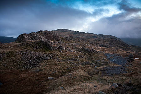 The walkers got lost on Allen Crags, south of Glaramara