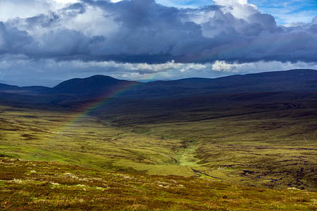 The hills were the Allt Duine windfarm would be built. Photo: Chris Townsend