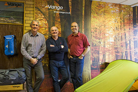 From left: Stephen Newlands, managing director, Steve Craig, commercial director and Glenn Andrews, product director