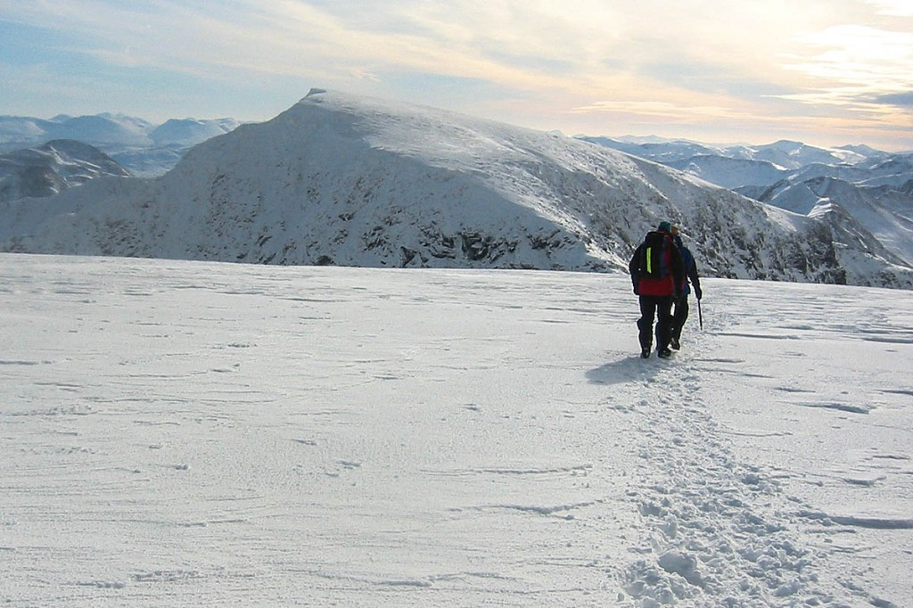 The man fell while descending from Aonach Beag's summit. Photo: Bob Smith/grough