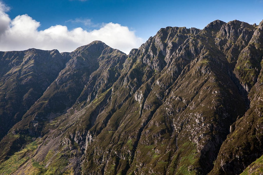 The search has included the Aonach Eagach ridge