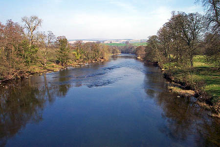 The River Eden at Armathwaite, scene of the rescue. Photo: Tom Brewis CC-BY-SA-2.0