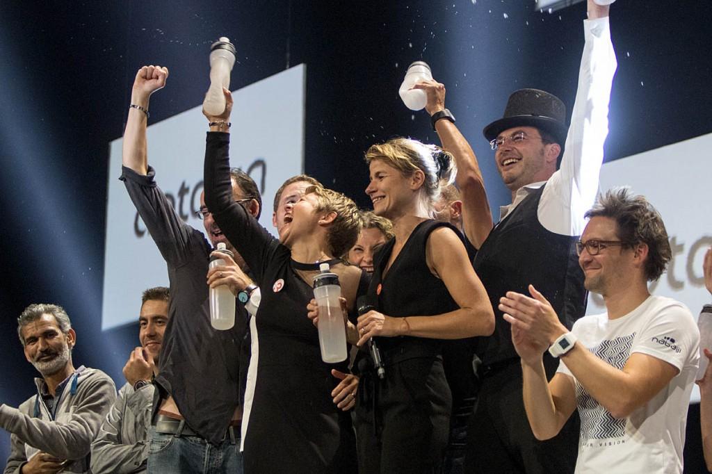 The Aptonia team celebrates its success at the Decathlon awards
