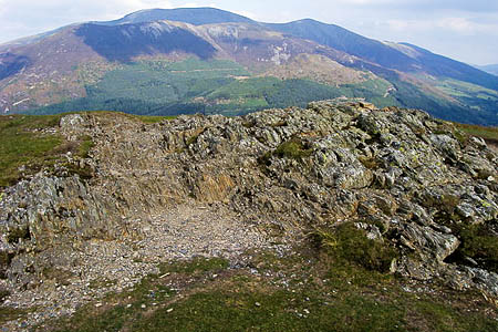 The summit of Barf, with Skiddaw in the distance. Photo: Shaun Ferguson CC-BY-SA-2.0