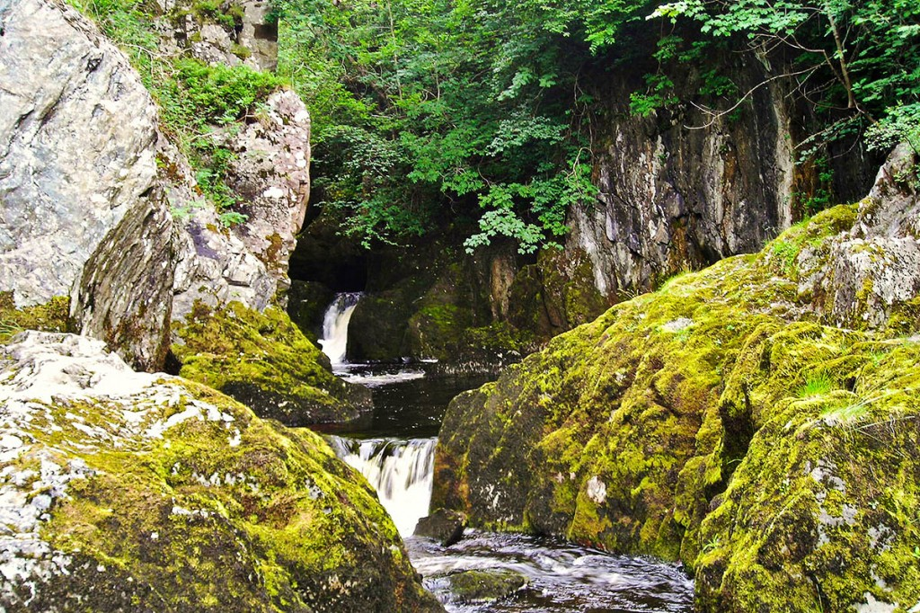 The incident happened in Baxenghyll Gorge on the Ingleton Waterfalls walk. Photo: Antony Dixon CC-BY-SA-2.0
