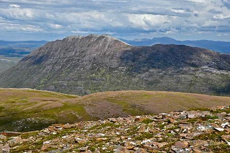Beinn a'Chlaidheimh seen from Ruadh Stac Mòr. Photo: The Munro Society