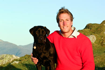 Ben Fogle with his dog Inca