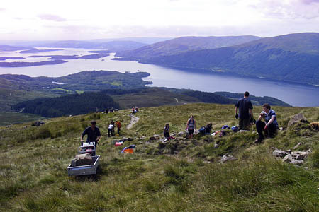 The workers on Ben Lomond