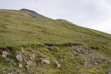 The direct route to the summit of Ben More leaves the track at this point