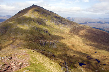 The two walkers were found about 3km south-east of Ben More's summit