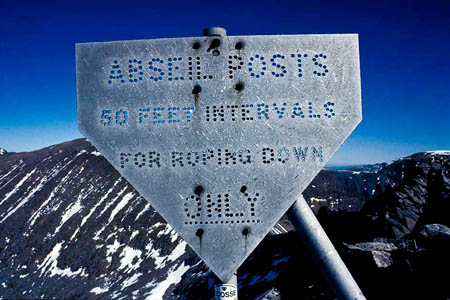 The abseil posts have been removed from Ben Nevis. Photo: Alan Kimber
