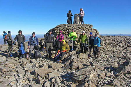 The Real Three Peaks clean-up squad on Ben Nevis's summit