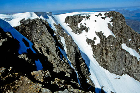 The two men fell from near the top of Zero Gully on Ben Nevis's North Face. Photo: KA CC-BY-SA-2.0